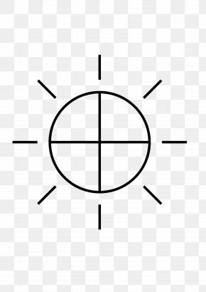 Crosshair - Solar Symbol Zeus Sign Clip Art PNG
