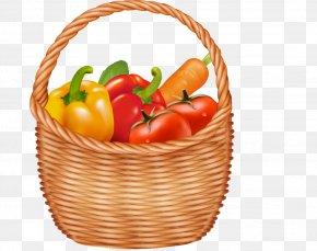 Vegetable Basket - Basket Fruit Vegetable Clip Art PNG