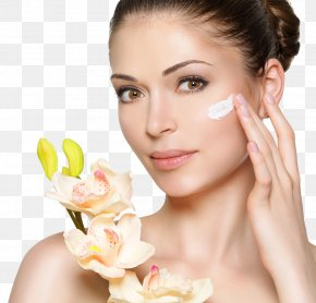 Beauty Makeup And Flowers - Lotion Cosmetics Face Cream Beauty PNG