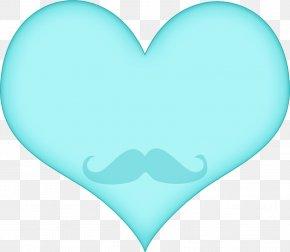 Love Cloud - Aqua Heart Turquoise Blue Teal PNG