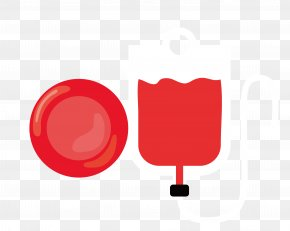 Vector Red Blood Cell Transfusion Bag Material - Red Illustration PNG