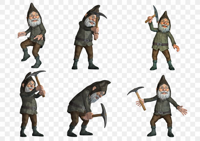 The Gnome DeviantArt Animation Digital Art, PNG, 2806x1984px, 3d Computer Graphics, Gnome, Action Figure, Animation, Character Download Free