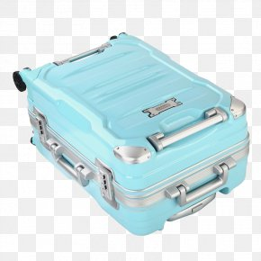 Light Blue Daily Suitcase - Suitcase Blue Black PNG