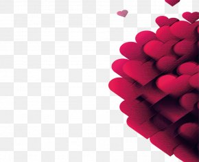 Red Heart - Red Heart Desktop Wallpaper Valentine's Day PNG