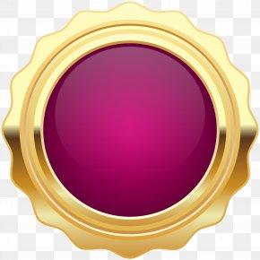 Seal Badge Purple Gold Clip Art Image - Gold Purple PNG