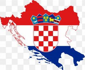Map - Flag Of Croatia Map National Flag PNG
