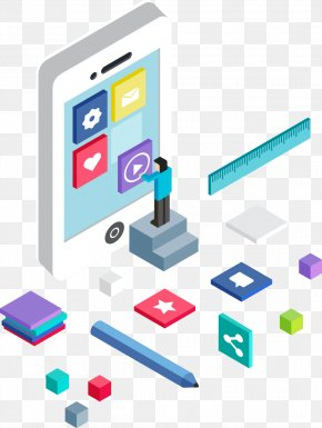 Three-dimensional Mobile Phone APP Introduced Picture - Web Development User Experience User Interface Graphic Design PNG