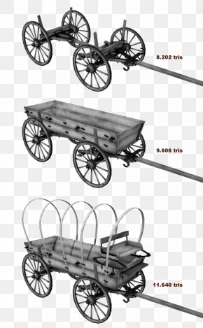 American Frontier Covered Wagon Conestoga Wagon Bicycle Wheels PNG