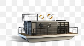 Floating - Houseboat Watercraft Float PNG