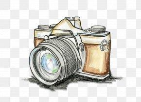 Camera - Photographic Film Drawing Camera Illustration Image PNG
