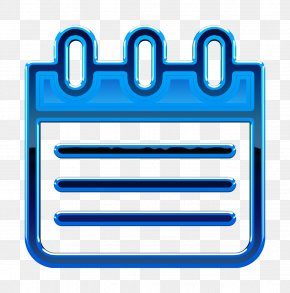 Rectangle Electric Blue - Tools And Utensils Icon Agenda Icon Linear Color Web Interface Elements Icon PNG