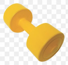 Yellow Barbell - Yellow Barbell Chemical Element PNG