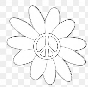 Flower Tattoos Black And White - Petal White Symmetry Pattern PNG