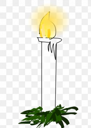 White Cartoon Burning Candles - Advent Candle Christmas Clip Art PNG