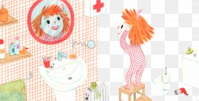 Funny Child In The Mirror - Paper Text Illustration PNG