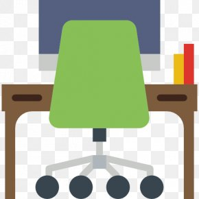 Cartoon Computer Desk - Table Furniture Chair Computer Desk PNG