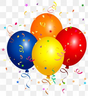Confetti And Balloons Clipart Image - Balloon Clip Art PNG