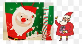 Santa Claus On Christmas Gift - Santa Claus Christmas Ornament Gift PNG