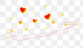 Love Yellow - Heart Yellow Line Love PNG