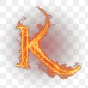Fire Letter - K Letter English Alphabet Flame PNG