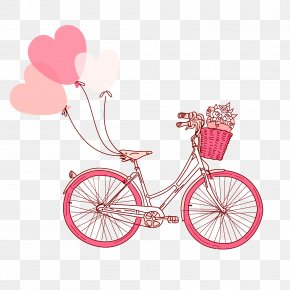 Pink Bike - Illustration PNG
