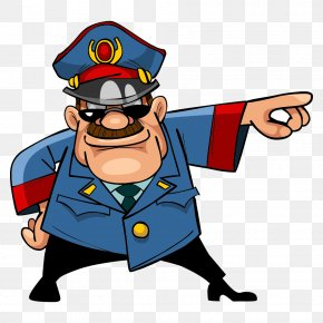 Vector Police - Cartoon Police Officer Stock Illustration PNG