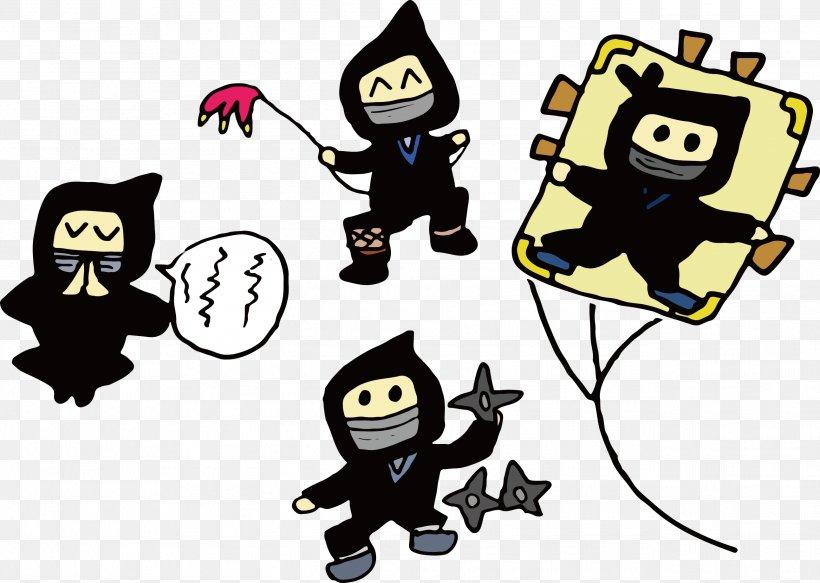 Euclidean Vector Ninja Clip Art, PNG, 2586x1841px, Ninja, Cartoon, Clip Art, Coreldraw, Fictional Character Download Free