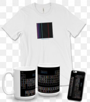 T-shirt - T-shirt Emission Spectrum Chemical Element Periodic Table Spectroscopy PNG