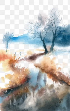 Vector Watercolor Landscape - Watercolor Painting Landscape PNG