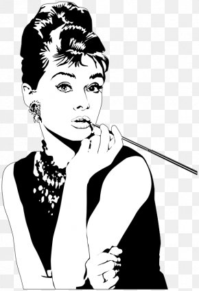 Actress Cliparts - Designer Journal: With Designer Quotes, Audrey Hepburn Fashion Journal Notebook Breakfast At Tiffany's Clip Art PNG