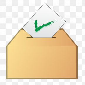 Yellow Check Mark - Voting Election Ballot Box Clip Art PNG