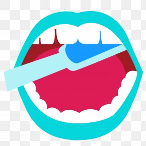 Vector Cartoon Mouth To The Teeth To Brush Your Teeth - Toothbrush Mouth PNG