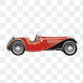 Vector Retro Classic Red Convertible Vintage Car - Vintage Car Convertible MINI Cooper PNG