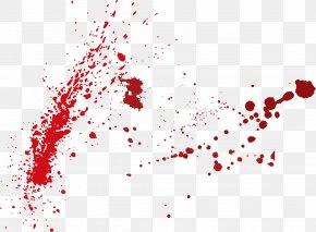Vector Blood Splash - Blood Drop PNG