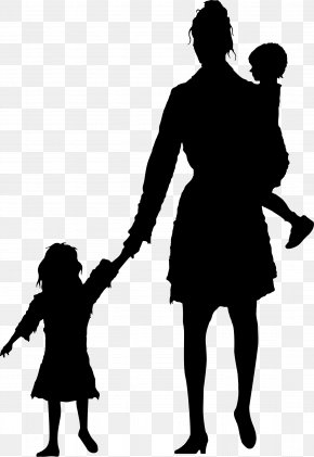 Mother And Daughter - Stock Photography Silhouette Royalty-free Child Mother PNG