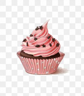 Muffin Cream - Cupcake Food Buttercream Icing Pink PNG