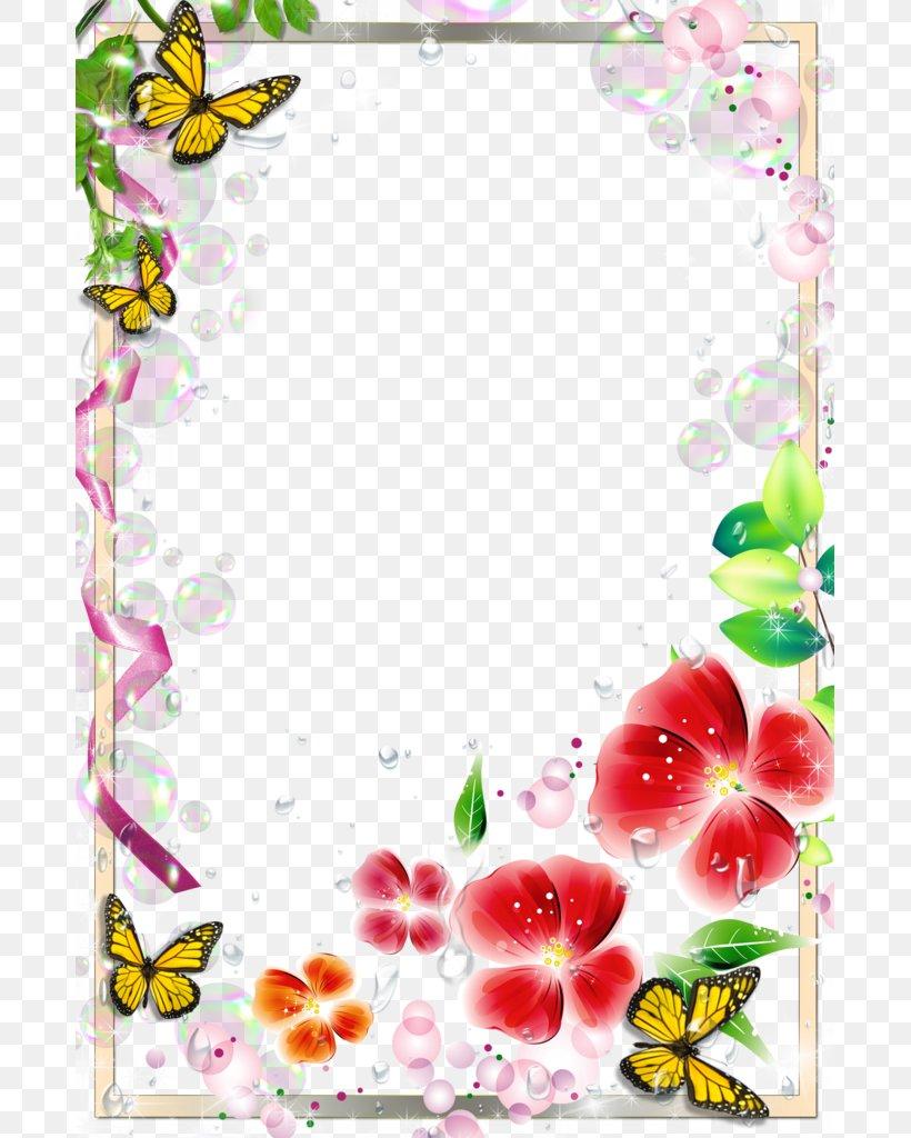Picture Frame, PNG, 683x1024px, Picture Frame, Border, Flora, Floral Design, Floristry Download Free