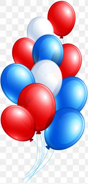 4th July Balloon Bunch Clip Art Image - Independence Day Symbol Clip Art PNG