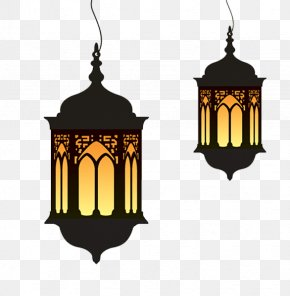 Ramadan Cartoon Lights - Ramadan Eid Al-Fitr Lantern Clip Art PNG