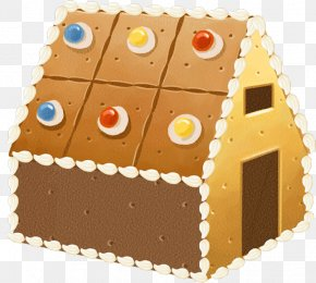 Creative Candy Texture Small House - Gingerbread House Candy Cane Creativity PNG