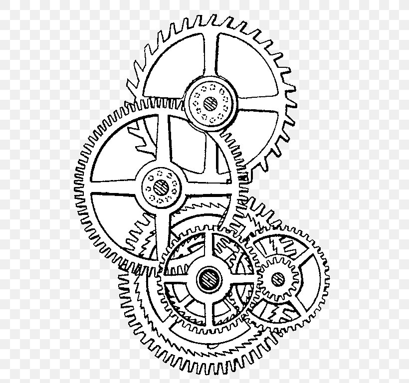 Steampunk Drawing Gear Clip Art Png 560x768px Steampunk Area Art Black And White Clock Download Free