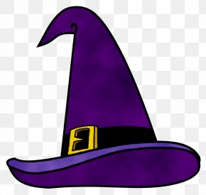 Cap Headgear - Witch Hat Clothing Hat Purple Costume Hat PNG