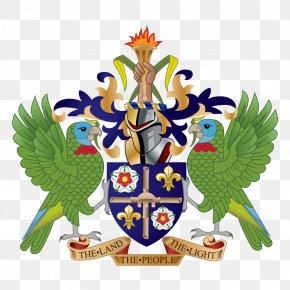 Saint Flag Lucia Flag - Coat Of Arms Of Saint Lucia Saint Vincent And The Grenadines National Symbols Of Saint Lucia Geography Of Saint Lucia PNG