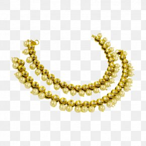 Necklace - Pearl Earring Necklace Jewellery Gold PNG