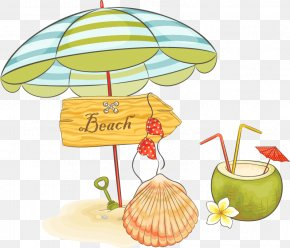 Parasol Summer Vector Material - Beach Cartoon Clip Art PNG