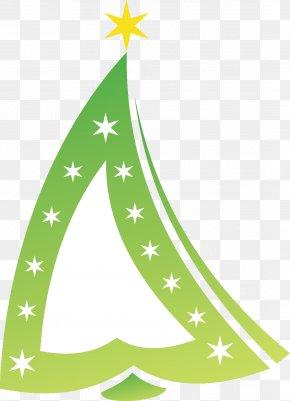 Green Christmas Tree - Christmas Tree Santa Claus Paper PNG