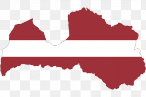 Map - Flag Of Latvia Map National Flag PNG