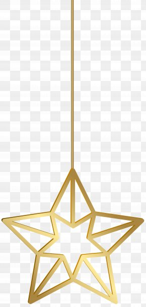 Hanging Star Gold Transparent Clip Art - Star Gold Clip Art PNG