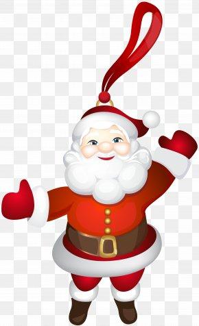 Santa Claus Ornament Transparent Clip Art - Santa Claus Ded Moroz Father Christmas Gift PNG