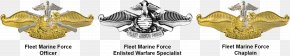 Military - United States Navy Fleet Marine Force Insignia Seabee United States Marine Corps PNG